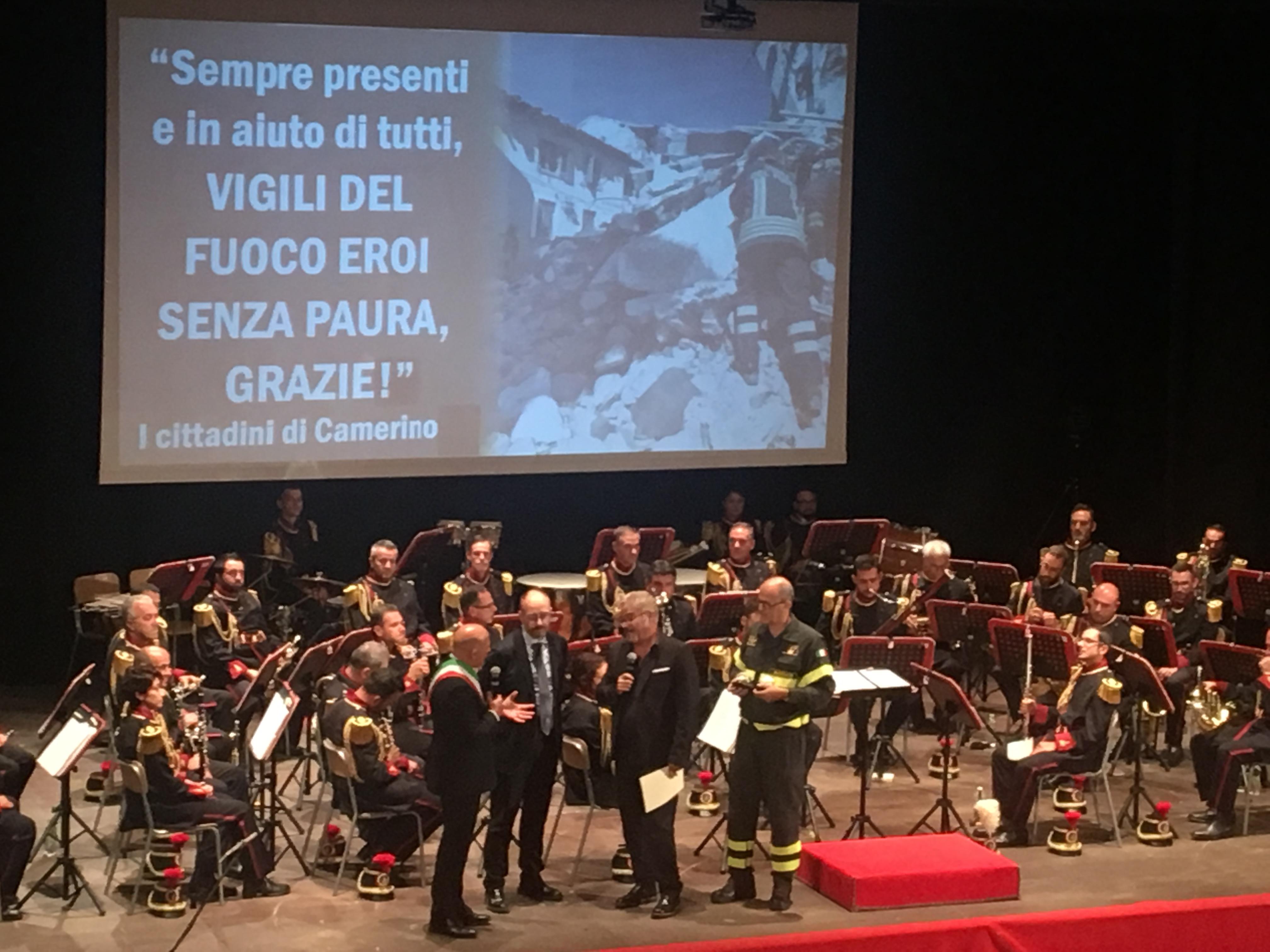 Il concerto della banda del Corpo nazionale dei Vigili del fuoco