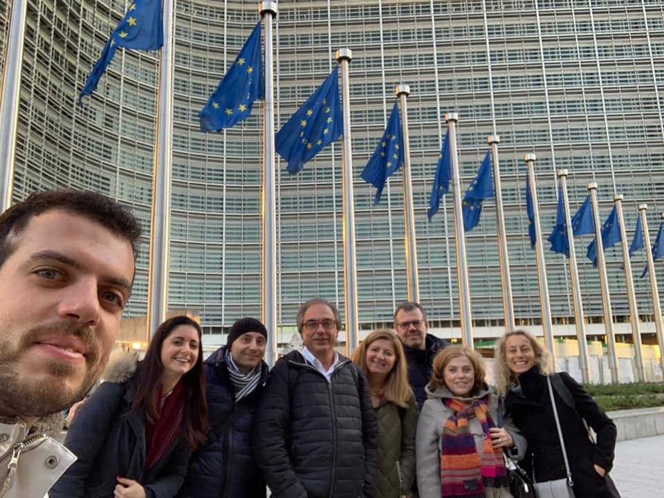 Il consigliere Riccardo Pennesi col gruppo Unicam, ENEA e INGV