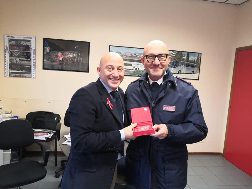 Il sindaco Sandro Sborgia con il comandante Valentini