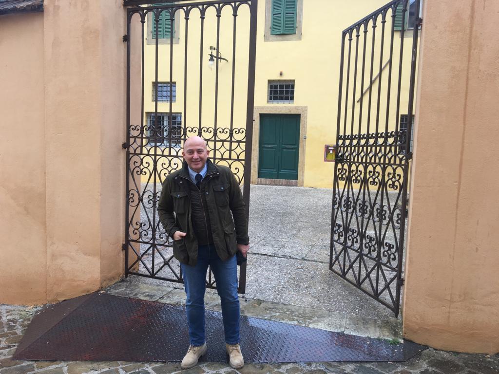 Il sindaco Sandro Sborgia questa mattina a Palazzo Battibocca