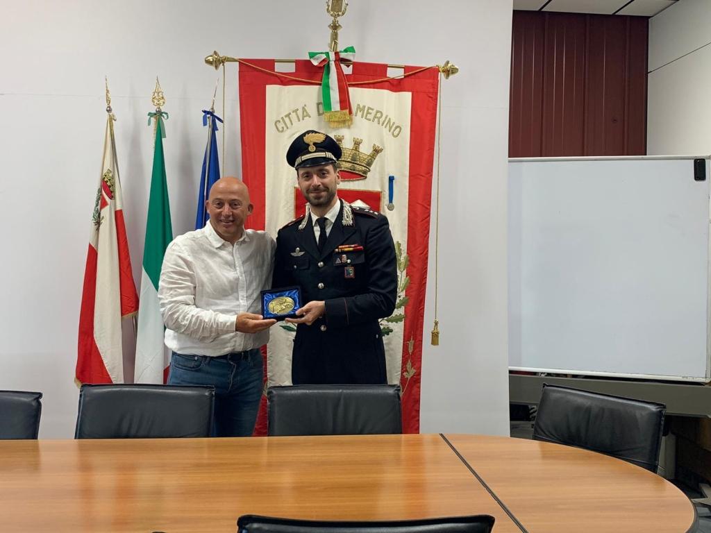 Il sindaco Sborgia e il capitano Cara