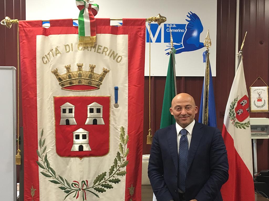 Il sindaco di Camerino, Sandro Sborgia banner