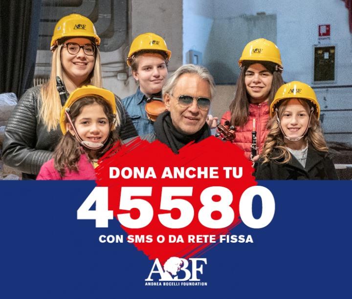 Raccolta fondi Andrea Bocelli Foundation