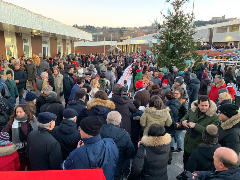 Un'immagine durante le iniziative delle festività natalizie a Camerino