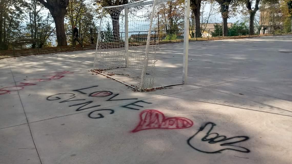 atti vandalici sulla pista pattinaggio Gioco del pallone (1)