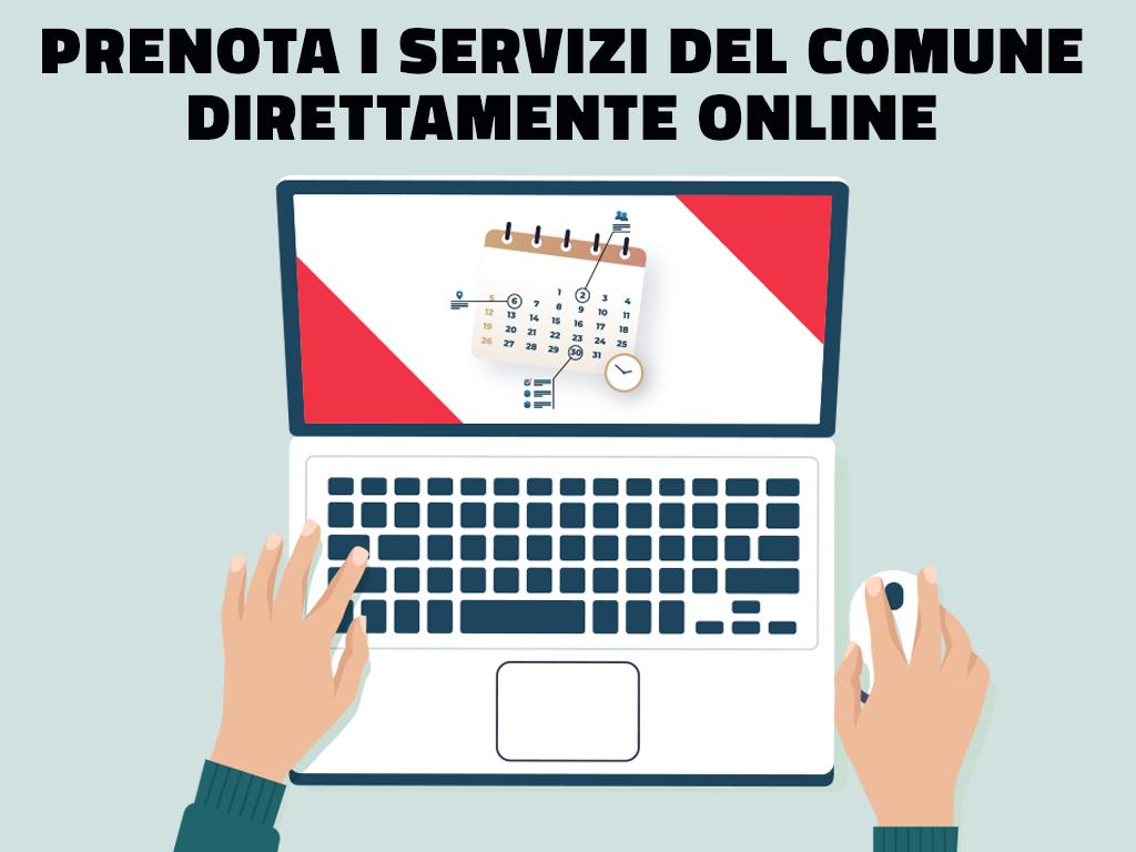 Prenota i servizi del Comune direttamente online